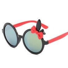 Round Sunglasses Girl Boys Brand Design 2017 Luxury Rabbit Ears Children Sun Glasses Kids Glasses Cirlcle Color Lens Oculos