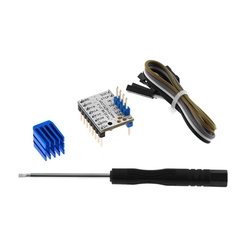 1Set TMC2130 V1 1 Stepper Stepstick Motor Heat Sink for 3D Printer Protection Parts Accessories Driver Module in 3D Printer Parts Accessories from Computer Office