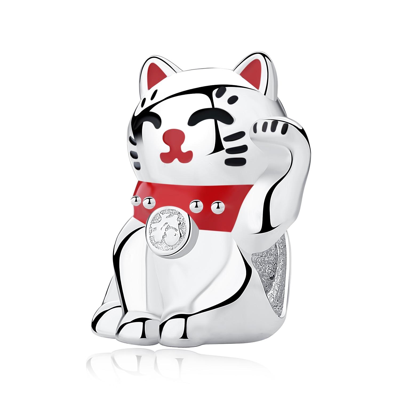 Аутентичные бусины из стерлингового серебра 925 милые отпечатки собачьих лап кошка сова животное Шарм подходят оригинальные Пандора браслеты амулеты «сделай сам» ювелирные изделия - Цвет: 8