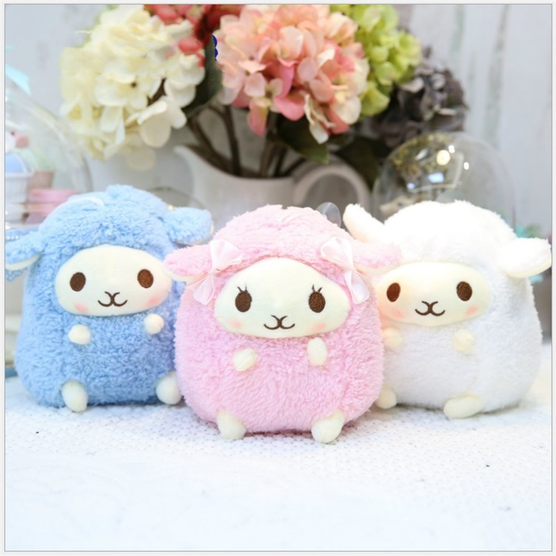 20cm 3 Colors Kawaii Sheep Plush Toys Stuffed Animals Kids Toys Small Pendant Creative Valentine's Day Christmas Gifts