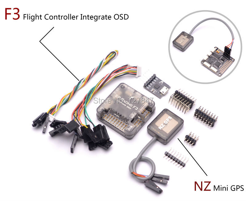 PRO SP Racing F3 Flight Controller Integrate OSD + Ultra Small Ublox 7 Series Mini GPS NZ GPS for Mini 250 210 Quadcopter Drone super mini nz gps for naze32 flip32 6dof 10dof best for qav250 zmr250