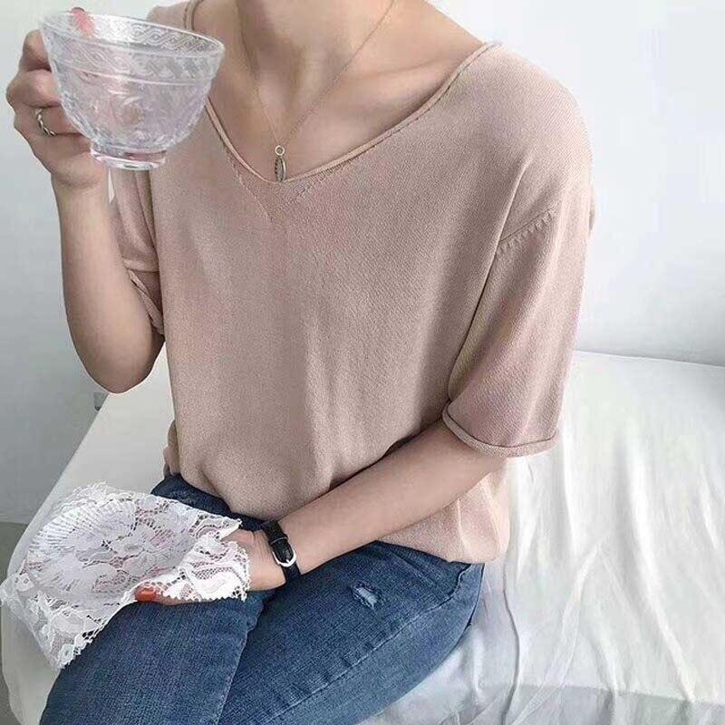 2019-summer-thin-knit-oversized-t-shirt-for-women-v-neck-big-top-girls-casual-t.jpg_640x640 (2)