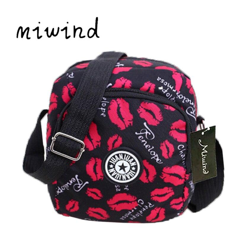 Small Handbags Messenger-Bag Crossbody-Bags Printed Nylon Girls Waterproof Fashion Women