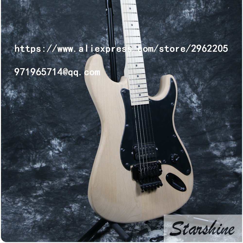 Free Shipping In Stock Starshine SR-LST-018 Unfinished DIY Electric Guitar ,Guitar Kits Handmade Can Custom Hot Sale