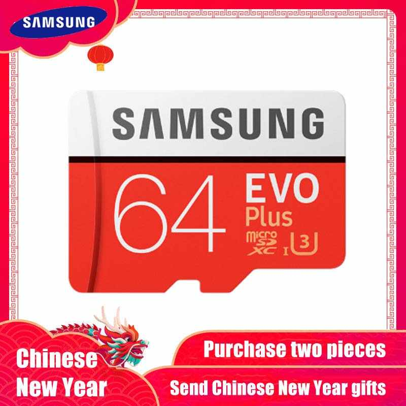 100 Original Samsung Micro Sd Card 64 Gb U3 Memory Card Evo Plus 64gb Class10 Tf Card C10 80mbs Microsdxc Uhs 1 Free Shipping