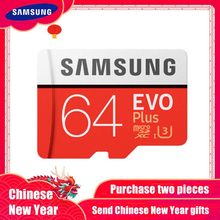 100% Original SAMSUNG carte Micro SD 64 GB u3 carte mémoire EVO Plus 64 GB Class10 TF carte C10 80 mo/s MICROSDXC UHS-1 livraison gratuite(China)