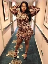 women new fashion 2018 leopard print dress mini party sexy club bodycon open back dress