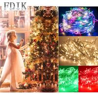 Holiday Multi Color LED String Lights 50m 480LEDs Bedroom Garden Wedding Party Christmas Tree Decoration LED String Lamp Lantern