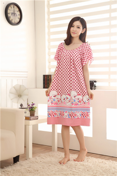 Wholesale Hot Women Sleepwear Female Summer Nightgown ...