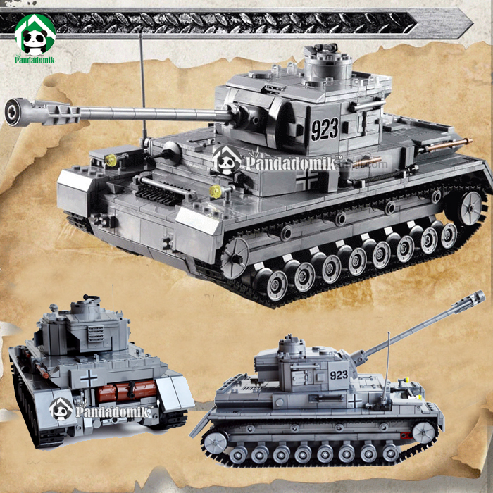 Kazi Large Panzer IV Tank 1193pcs Building Blocks Military Army Constructor set Educational Toys for Children Compatible lepin 8 in 1 large military figures warship fighter helicopter tank ship building blocks set children educational toys for boys