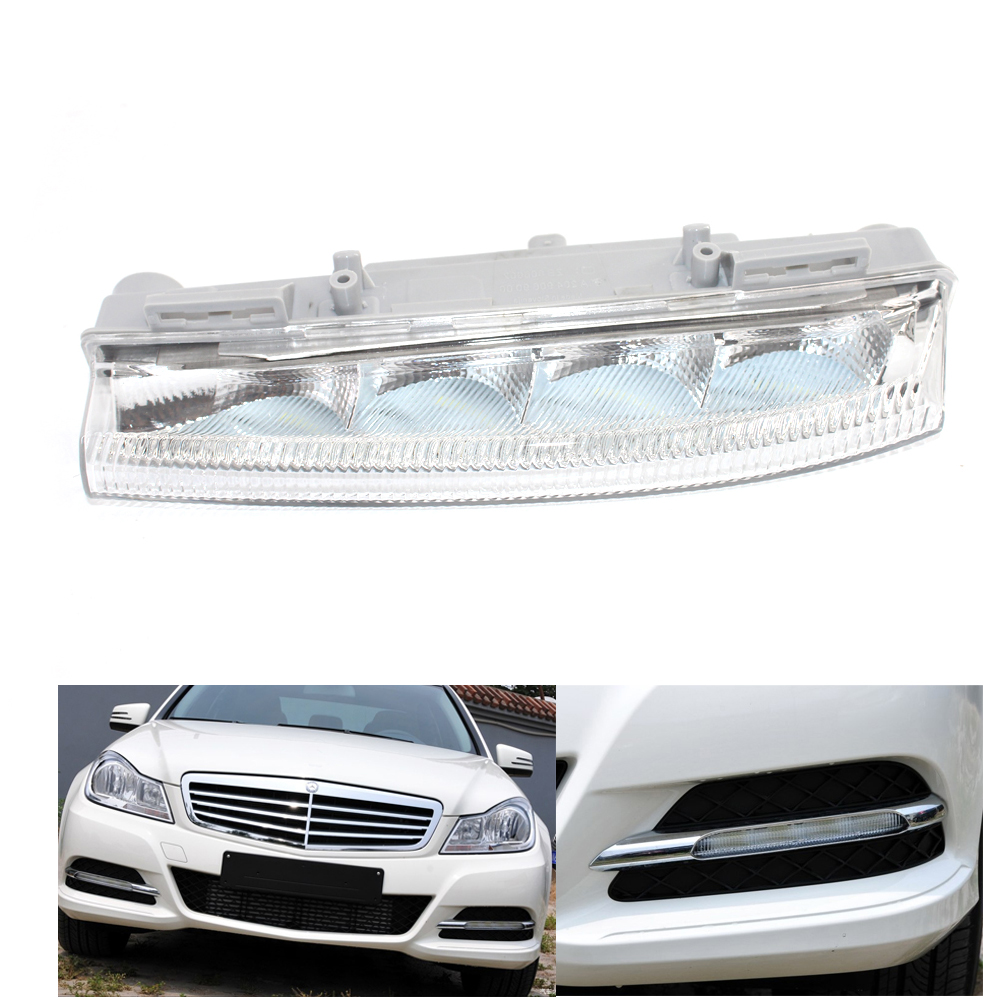 For <font><b>MERCEDES</b></font> <font><b>BENZ</b></font> W204 2007-2014 LEFT SIDE FOG LIGHT Lamp CLEAR LED W212 09-14 R172 C230, C250, <font><b>C300</b></font>, C350 image