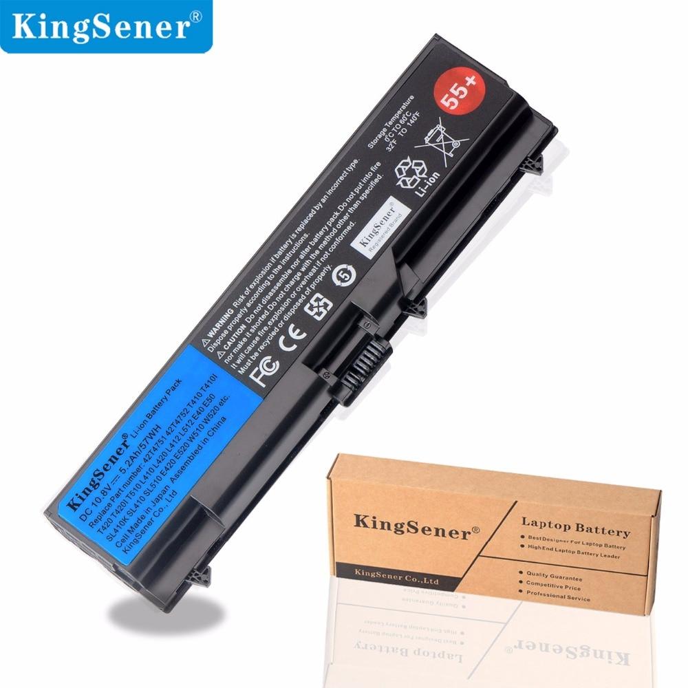 KingSener Laptop Battery for Lenovo ThinkPad SL410 SL410K SL510 E40 E50 E420 T510 W510 L412 T420 T410 T510 L510 L420 L521 55+ new 9 cell laptop battery for lenovo thinkpad l410 l412 l520 sl410 sl510 t410 l420 l421 e40 e50 42t4912 42t4911 fru 42t4751