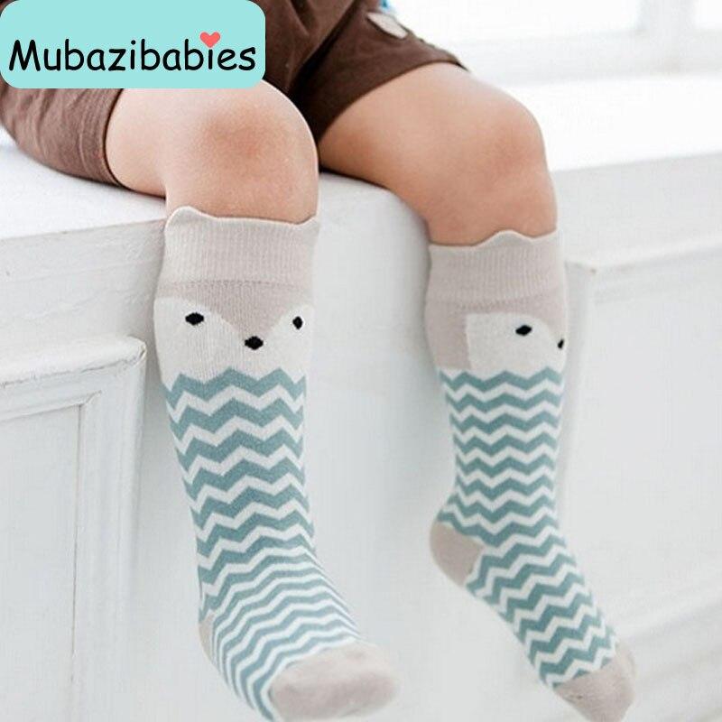 2016 Cartoon Socks Cotton Anti-slip sock Newborn Toddler Knee High Sock Baby Animals Socks Leg Warmers For Newborns