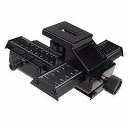 4 way makro strzał skupiając szyna prowadząca dla lustrzanek DSLR aparat DC w Systemy szynowe od Elektronika użytkowa na