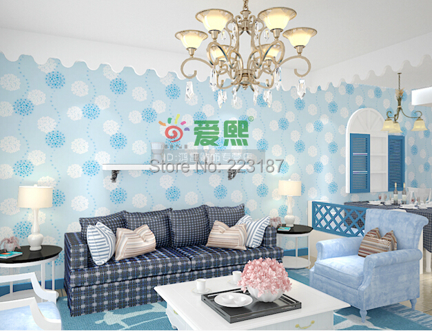 wholesale Classic pastoral 100m*45cm self-adhesive PVC DIY wallpaper baby kids children bedroom wall stickers home decor