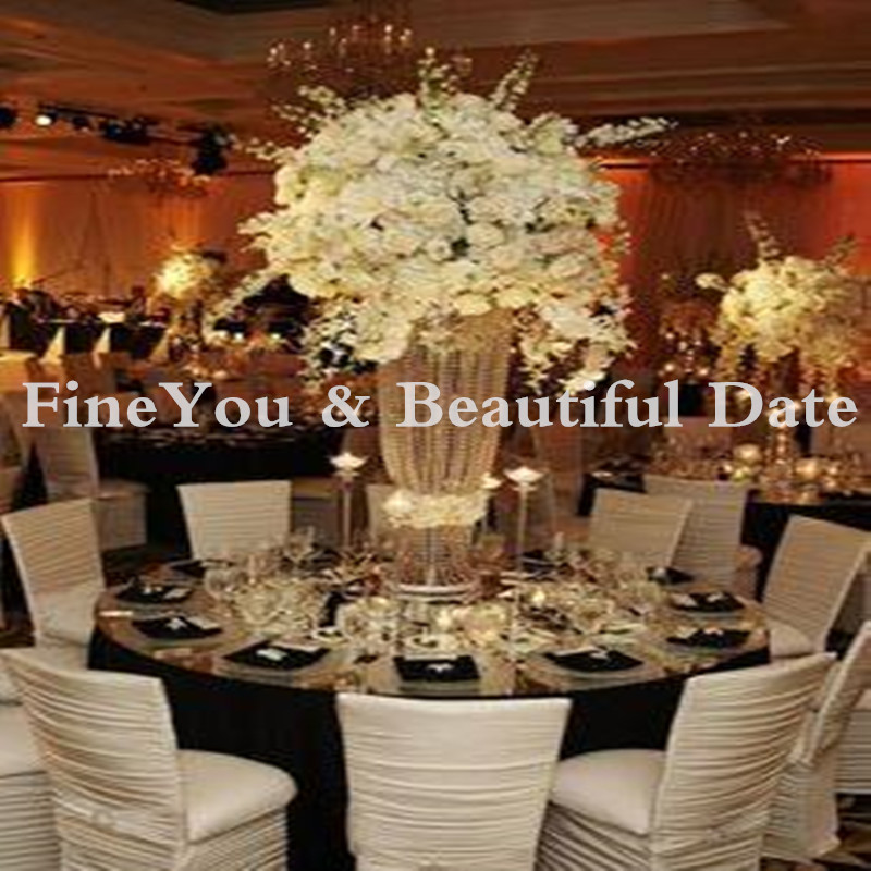 20 pcslot 80cm tall 22cm diameter acrylic crystal wedding road lead wedding centerpiece event party decoration - Halloween Centerpieces Wedding