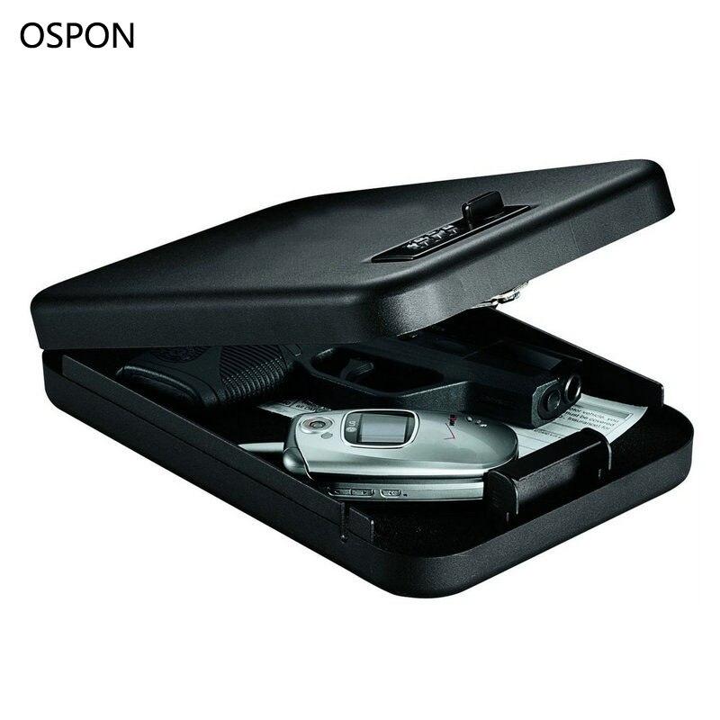 Пароль Сейфы портативный автомобильный Сейф пистолет ценности денег ювелирные изделия коробка для хранения безопасности StrongBox 1 мм холодно... ...