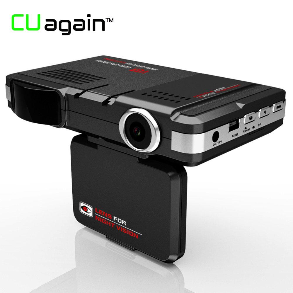 CUagain C77 3 in 1 Car DVR Camera Holder GPS Radar Detector Warning Video Recorder Full HD Dash Camera In Car Video Camera Carro