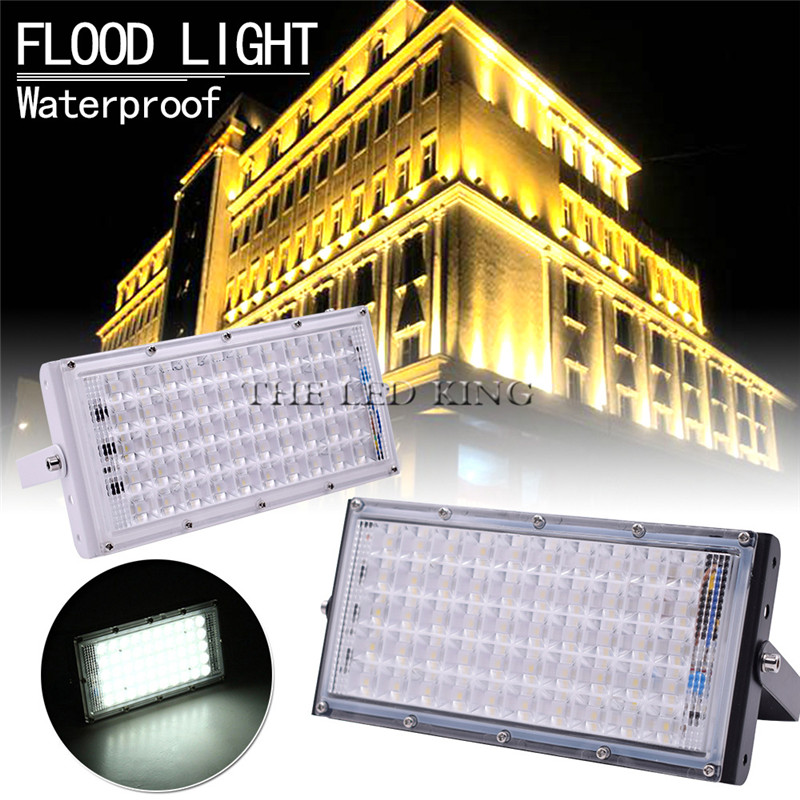 Image 5 - LED Flood Light 50W Outdoor Floodlight Waterproof IP65 Wall Reflector Lighting 220V 240V Street Lamp Spotlight-in Floodlights from Lights & Lighting
