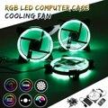 1 шт./3 шт./6 шт. 120 мм ПК компьютер 16 дБ бесшумный охлаждающий вентилятор Регулируемый RGB светодиодный компьютерный корпус ИК-пульт 12В постоянн...