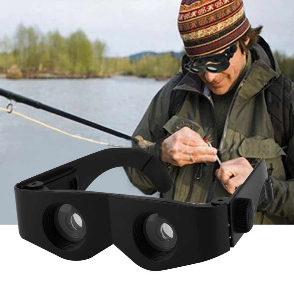Portable Glass Style Black Telescope Magnifier For Fishing Hiking font b Binoculars b font free shipping