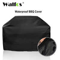 Walfos marca à prova dwaterproof água churrasqueira churrasqueira capa ao ar livre chuva grill barbacoa anti poeira protetor para gás carvão elétrico barbe
