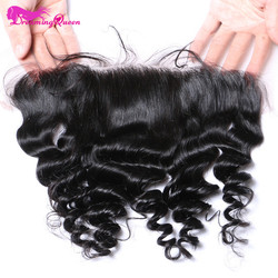 Dreaming queen hair pre plucked loose wave lace frontal closure 13x4 peruvian remy human hair frontal.jpg 250x250