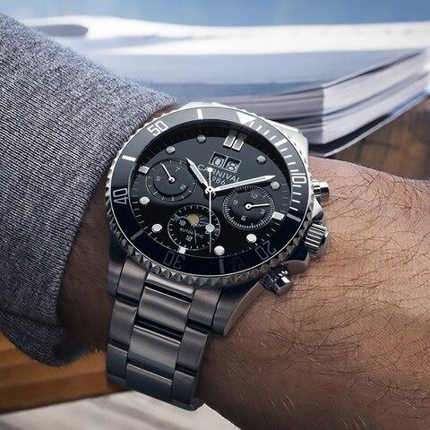 Topo da Marca de Luxo Relógio de Carnaval Safira à Prova Relógios Mecânicos Homens Esportes Automáticos Dwaterproof Água Relógio Luminoso