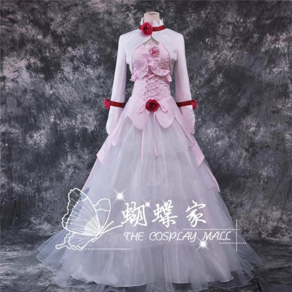 Hot Anime CODE GEASS Euphemia li Britannia Cosplay Costume White and Pinck Dress Coat S-XL NEW