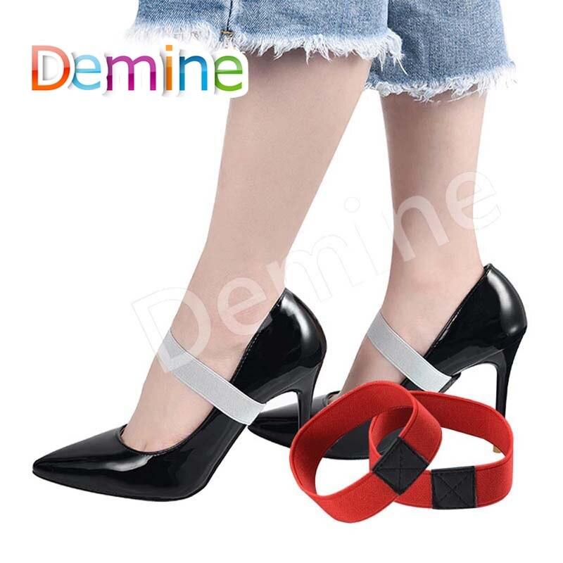 Demine Elastic Shoe Strap Lace Band for Holding Loose High Heeled Shoe Detachable Shoe Straps Shoelaces Band No Tie Shoelace Demine Elastic Shoe Strap Lace Band for Holding Loose High Heeled Shoe Detachable Shoe Straps Shoelaces Band No Tie Shoelace
