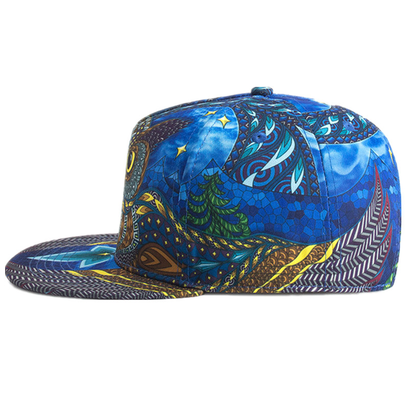 2005b10d6df Women Baseball Cap Couple Snapback Hats Men 3D Printed Owl Personality  Fashion Caps Spring Summer Adjustable Cotton Hats Bone-in Baseball Caps from  Apparel ...
