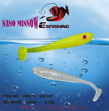 Ice Fishing Worm Nano Minnow 1.5″ Fishing Soft lures 12pcs 3.8cm/0.35g Esfishing Isca Baits Cheap Tackle Silicone