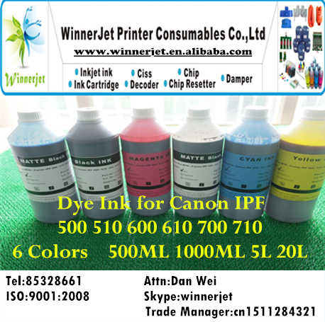 Dye Ink for Canon IPF _