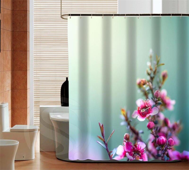fashion peach blossom custom shower curtain bathroom decor various sizes free shipping more size sq0427