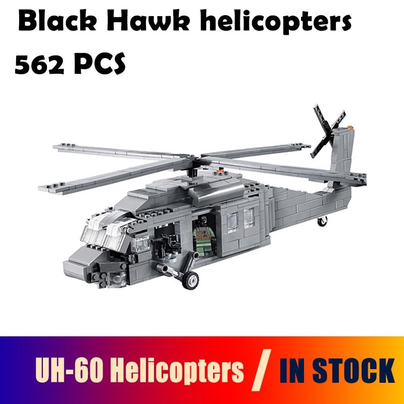 Decool modellbau kits kompatibel mit lego UH-60 Black Hawk hubschrauber 3D blocks Pädagogisches spielzeug hobbies für kinder
