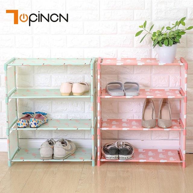 Attrayant 3 Tiers Non Woven Fabric Storage Shoe Rack Hallway Cabinet Organizer Holder  Door Shoe Storage