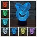 Diy tubo 3d candeeiro de mesa moda lâmpada luminaria para quarto art decor night light micro usb usb led 3d led lâmpada
