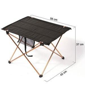 Image 2 - Складной стол для кемпинга, водонепроницаемый ультралегкий прочный складной столик из алюминиевого сплава для пляжа и пикника, барбекю