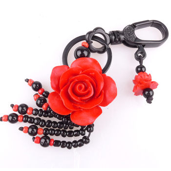 Long Yi lacquer lacquer jewelry pendant gift Keychain rose Waratah accessories 8000582