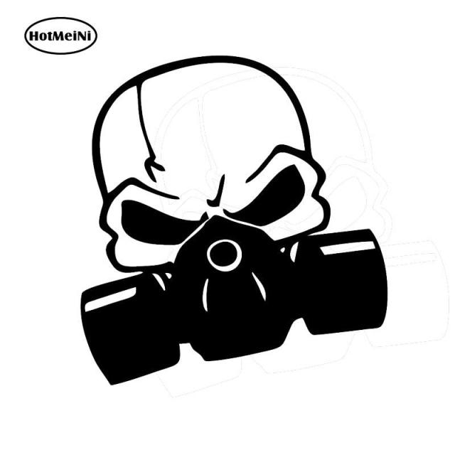 Hotmeini 1313cm skull painter mask decal jdm vinyl turbo racing window car sticker boost