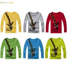 lemonnorange 2016 New Long Sleeve Giraffe I'm Happy Kids Boys T-shirt Top Long Sleeve Clothing Casual Baby Boys Clothing