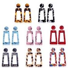 New Arrival Women Big Acrylic Earrings 2019 Shellhard Punk Style Leopard Print Geometric Dangle Drop Earring hanging bijoux