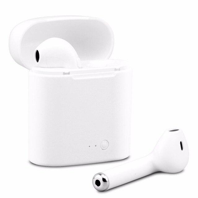Livraison gratuite i7s Bluetooth écouteurs sans fil casques d'écoute stéréo écouteurs intra-auriculaires avec boîte de charge pour ios et Android