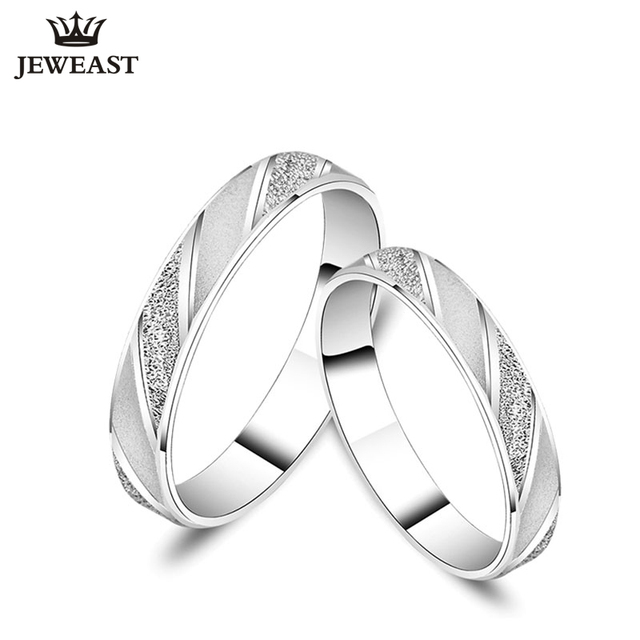 18K Gold Ring Pair Ring Lovers Couple Simple and Elegant Male Female solid AU750 Wedding propose got engage hot sale new trendy