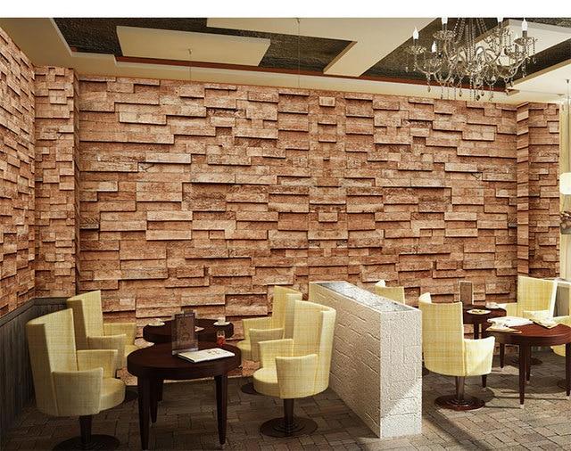 Houten Planken Aan De Muur.Us 18 0 40 Off Aliexpress Com Koop Driedimensionale 3d Houtnerf Houten Planken Muur 3d Behang Sofa Achtergrond 3d Behang Mural Grote Mural Custom
