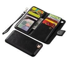 Для iPhone 7 плюс 6 S плюс Гибридный PU кожаный бумажник флип сумка + задняя крышка Магнитный чехол для iPhone 7 Обложки с картой слоты
