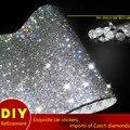 39 CM Cubierta de Cristales Strass Sticker Decor Decal Car lindo Styling Accesorios Móvil/pc Art Diamante Pegatinas Autoadhesivas