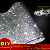 23 5X39CM Car Crystals Rhinestones Car Decor Decal Cute Styling Accessories Mobile Pc Art Diamond Self