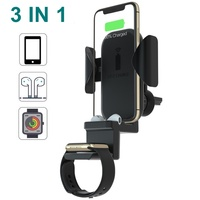 Youbina 3 in 1 Qi car wireless charger for Apple iPhone 8 x xr xs max Watch 4 3 2 1 Airpods 2 1 Airpower Apple family
