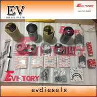 For Isuzu 4JB1T engine rebuild kit 4JB1 piston+ring+cylinder liner+gasket kit bearing kit valve guide seat